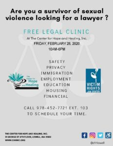 Legal Clinic @ The Center for Hope and Healing, Inc.