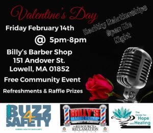 Healthy Relationships Open Mic Night @ Billy's Barbershop